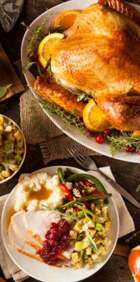 Snowdance Farm Organic Turkey with side dishes